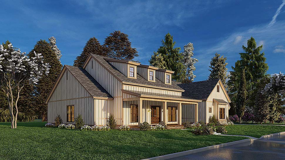 Bungalow, Craftsman, Farmhouse House Plan 82577 with 4 Beds, 3 Baths, 2 Car Garage Picture 4
