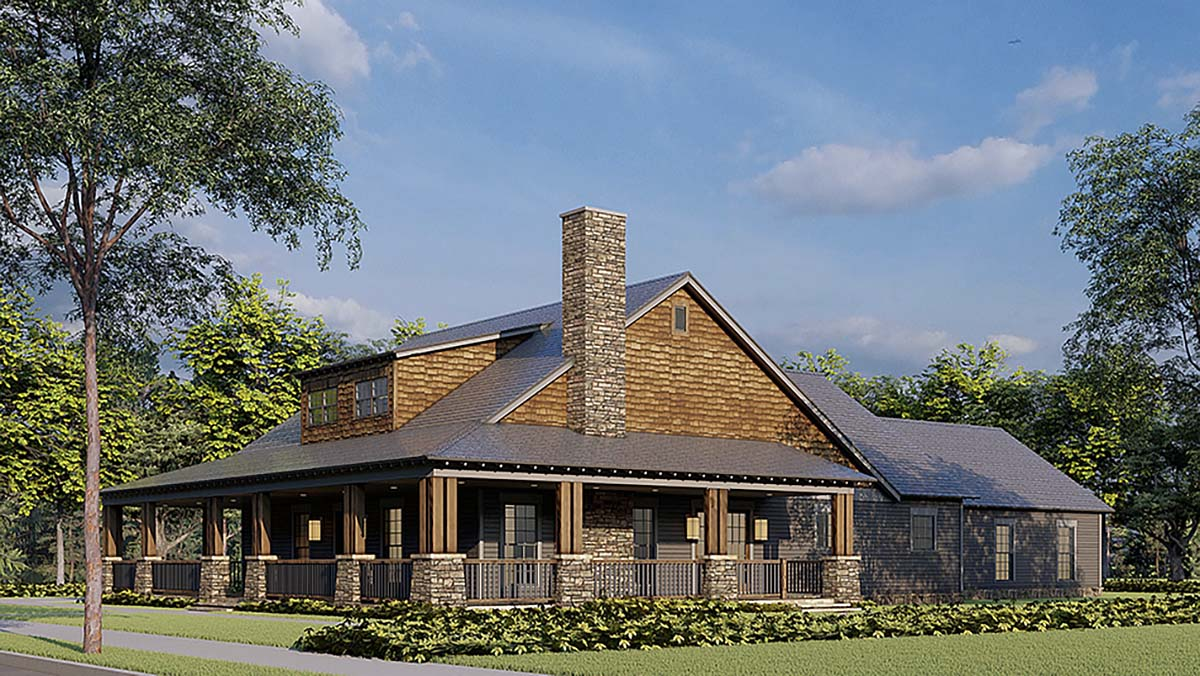 Bungalow, Country, Craftsman, Farmhouse House Plan 82578 with 2 Beds, 3 Baths, 4 Car Garage Picture 1