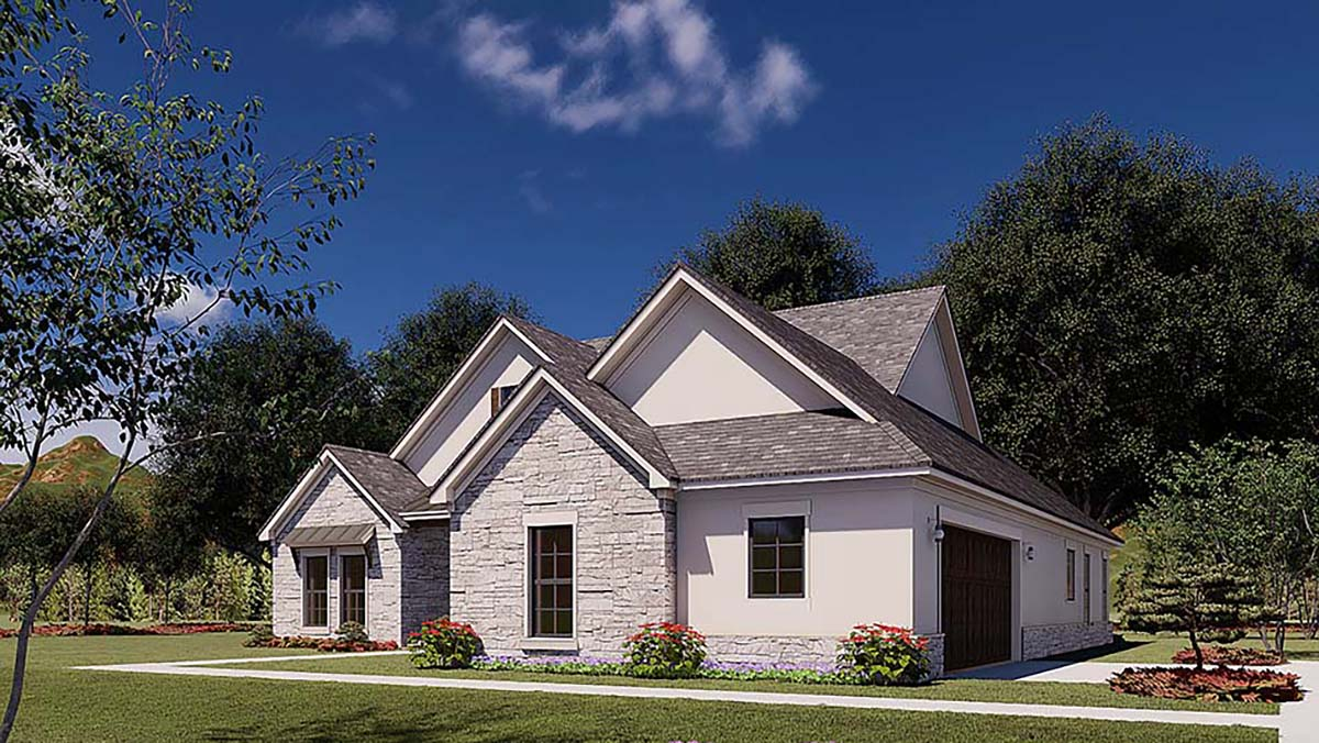 Traditional House Plan 82579 with 3 Beds, 2 Baths, 2 Car Garage Picture 1
