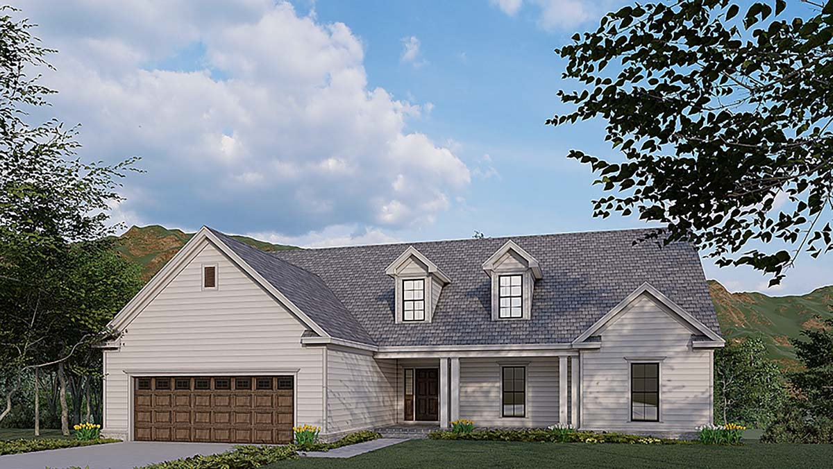 Traditional House Plan 82580 with 3 Beds, 4 Baths, 2 Car Garage