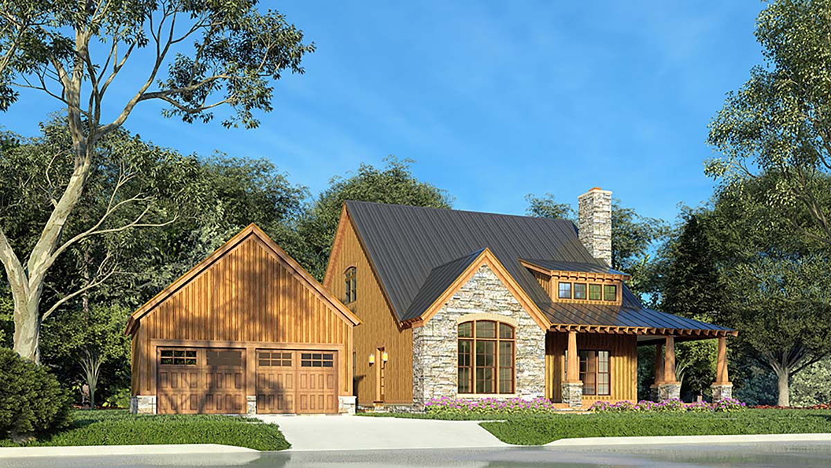 Country, Craftsman, Farmhouse House Plan 82581 with 3 Beds, 3 Baths, 2 Car Garage Elevation