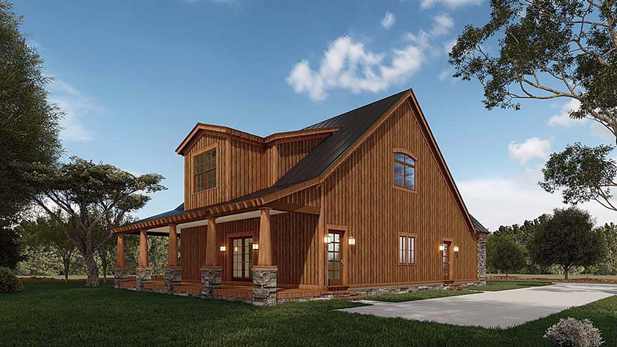 Country, Craftsman, Farmhouse House Plan 82581 with 3 Beds, 3 Baths, 2 Car Garage Picture 2