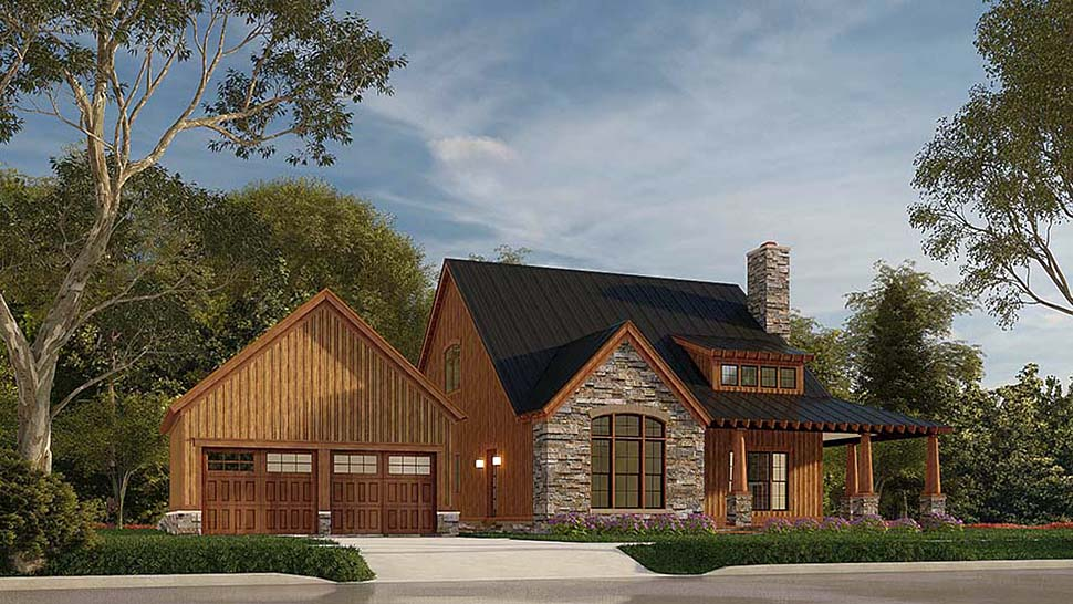 Country, Craftsman, Farmhouse House Plan 82581 with 3 Beds, 3 Baths, 2 Car Garage Picture 3