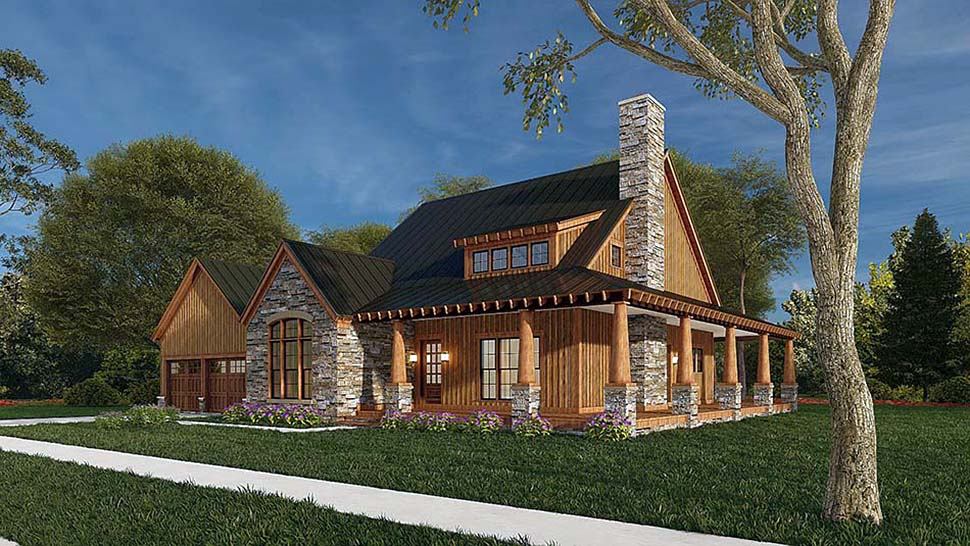 Country, Craftsman, Farmhouse House Plan 82581 with 3 Beds, 3 Baths, 2 Car Garage Picture 4