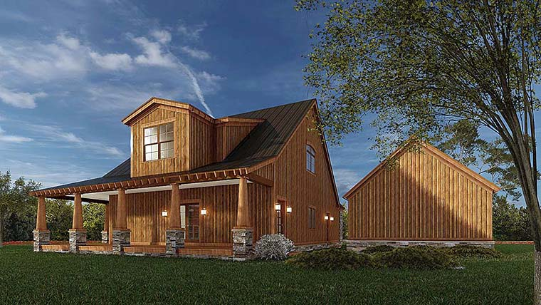 Country, Craftsman, Farmhouse House Plan 82581 with 3 Beds, 3 Baths, 2 Car Garage Picture 5
