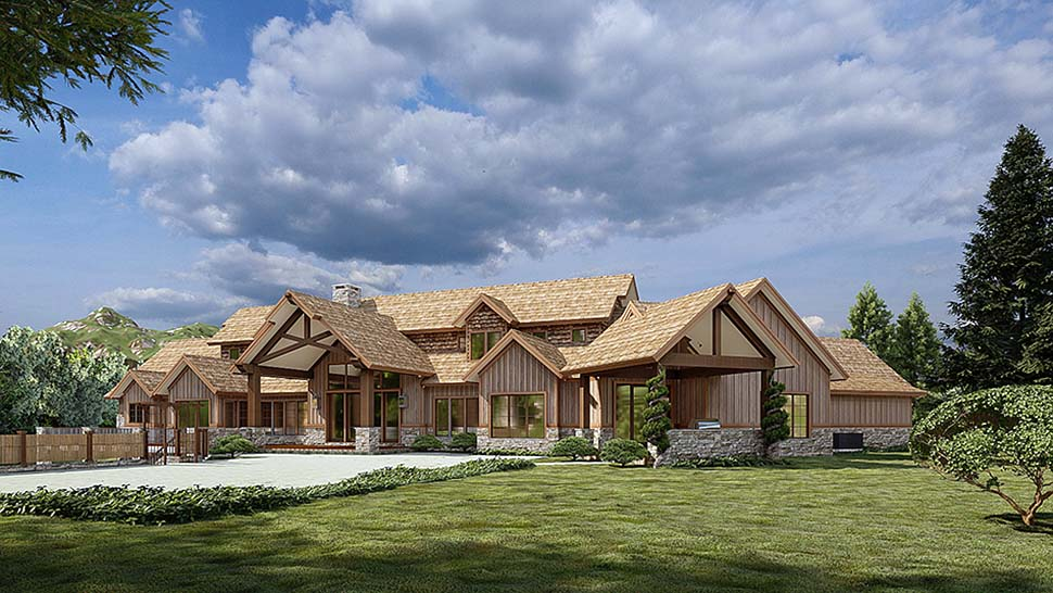 Country, Craftsman House Plan 82582 with 4 Beds, 6 Baths, 3 Car Garage Picture 3