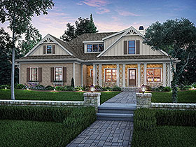 Bungalow Craftsman Tudor Victorian House Plan 83001 Elevation