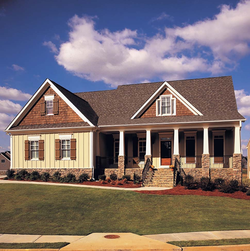 Cottage Country Craftsman Ranch Traditional Tudor House Plan 83002