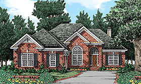 European Traditional House Plan 83003 Elevation
