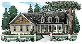 Cape Cod , Country , European , Traditional , Tudor House Plan 83007 with 3 Beds, 2 Baths Elevation