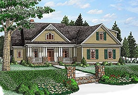 Country Craftsman European Traditional Tudor House Plan 83009 Elevation
