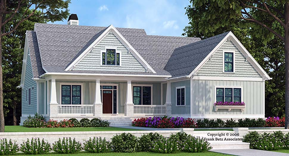 Bungalow, Craftsman, European House Plan 83015 with 4 Beds, 3 Baths, 2 Car Garage Elevation