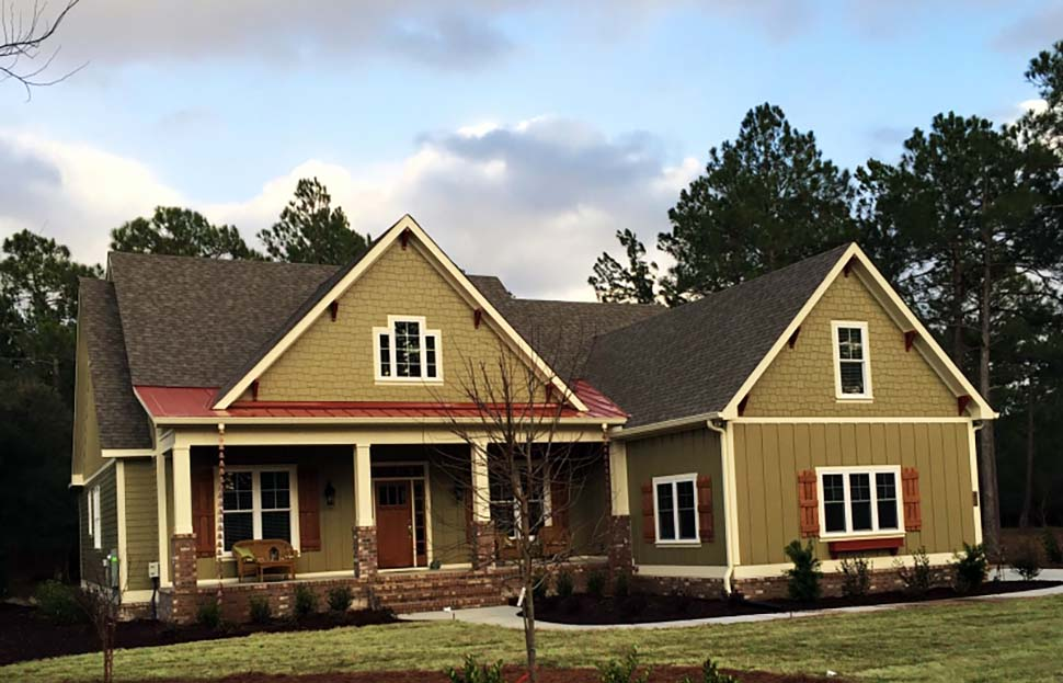 Bungalow, Craftsman, European House Plan 83015 with 4 Beds, 3 Baths, 2 Car Garage Picture 3