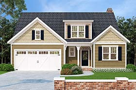 House Plan 83016 | Bungalow Cottage Style Plan with 2565 Sq Ft, 5 Bedrooms, 3 Bathrooms, 2 Car Garage Elevation