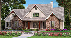 Country , Craftsman , Farmhouse House Plan 83017 with 4 Beds, 4 Baths, 2 Car Garage Elevation