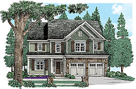 Colonial Cottage Country Southern Traditional House Plan 83020 Elevation
