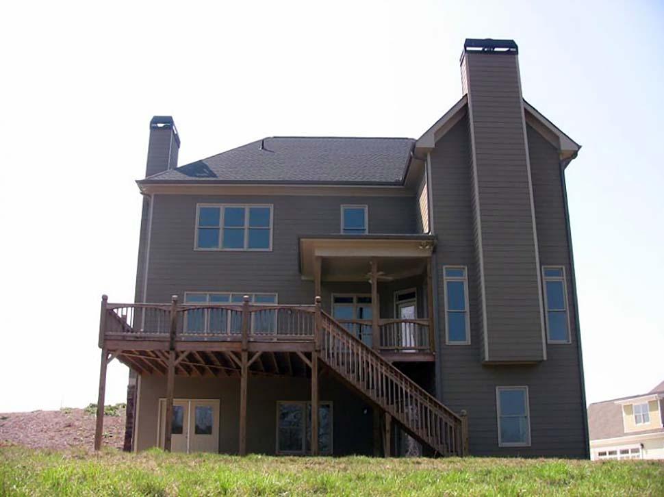 Craftsman , European , Farmhouse , Rear Elevation of Plan 83021