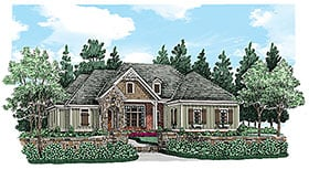Traditional , European , Craftsman House Plan 83028 with 3 Beds, 3 Baths, 2 Car Garage Elevation