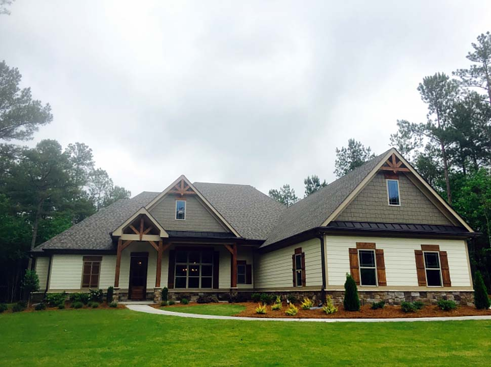 Craftsman, European, Traditional House Plan 83028 with 3 Beds, 3 Baths, 2 Car Garage Picture 2