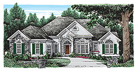 European Traditional House Plan 83029 Elevation