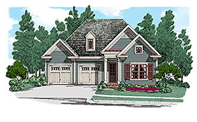 Cottage , Traditional House Plan 83030 with 2 Beds, 2 Baths, 2 Car Garage Elevation