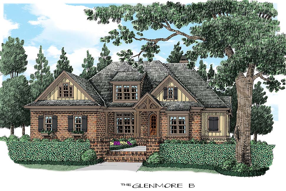 Traditional , Country , Cape Cod , Elevation of Plan 83034