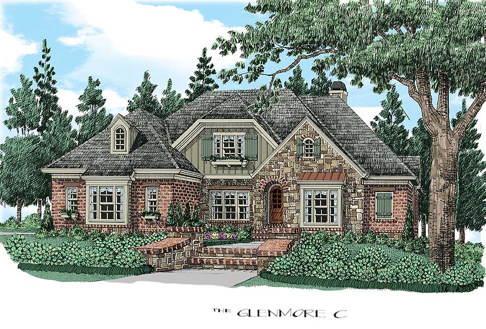 Cottage , Country , Traditional , Elevation of Plan 83035