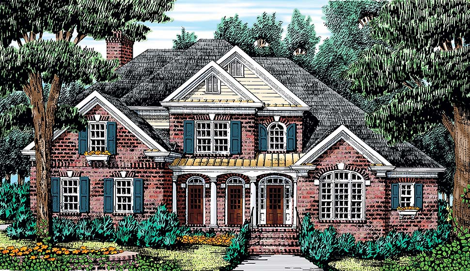 European , Traditional House Plan 83036 with 4 Beds, 4 Baths, 3 Car Garage Elevation