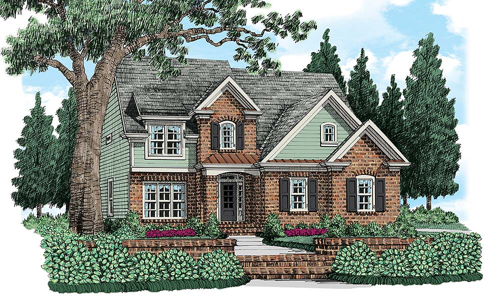 Cottage , Traditional House Plan 83043 with 4 Beds, 3 Baths Elevation