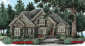 Traditional , Craftsman House Plan 83045 with 4 Beds, 3 Baths, 2 Car Garage Elevation