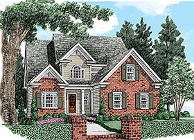Traditional House Plan 83046 with 3 Beds, 3 Baths, 2 Car Garage Elevation