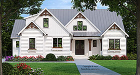 Craftsman , Traditional House Plan 83049 with 3 Beds, 3 Baths, 2 Car Garage Elevation