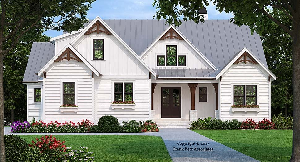 Craftsman, Traditional House Plan 83049 with 3 Beds, 3 Baths, 2 Car Garage Elevation