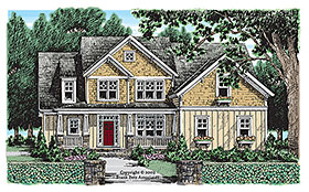 Country , Craftsman , Southern House Plan 83051 with 4 Beds, 3 Baths, 2 Car Garage Elevation