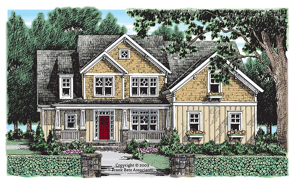 Country Craftsman Southern House Plan 83051 Elevation