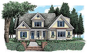 Country , Farmhouse , Traditional House Plan 83057 with 3 Beds, 3 Baths, 2 Car Garage Elevation