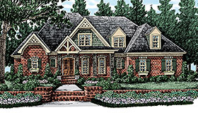 European , French Country , Traditional House Plan 83058 with 4 Beds, 4 Baths, 3 Car Garage Elevation