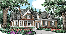 Traditional House Plan 83059 with 4 Beds, 3 Baths, 2 Car Garage Elevation