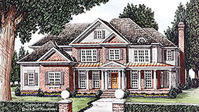 European , French Country House Plan 83062 with 5 Beds, 5 Baths, 3 Car Garage Elevation