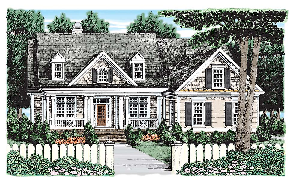 Colonial Cottage Country House Plan 83065 Elevation