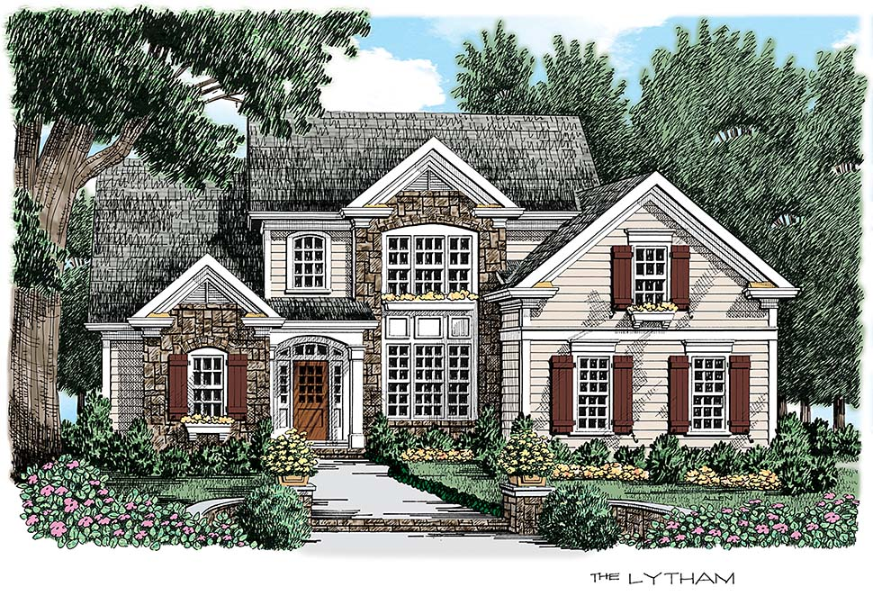 Cottage Traditional Elevation of Plan 83066