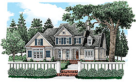 Traditional , Farmhouse , Country House Plan 83067 with 4 Beds, 3 Baths, 2 Car Garage Elevation