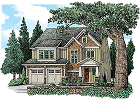 Craftsman House Plan 83072 with 4 Beds, 4 Baths, 2 Car Garage Elevation
