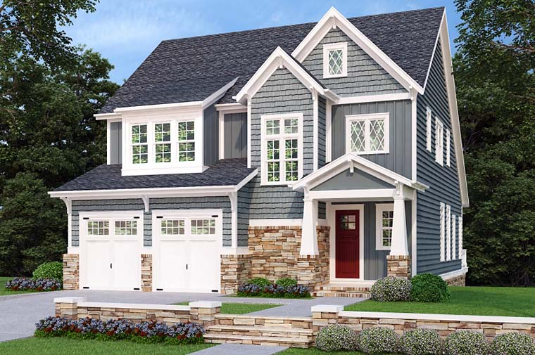 Craftsman Elevation of Plan 83072