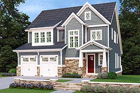 House Plan 83072   Craftsman Style Plan with 2709 Sq Ft, 4 Bedrooms, 4 Bathrooms, 2 Car Garage