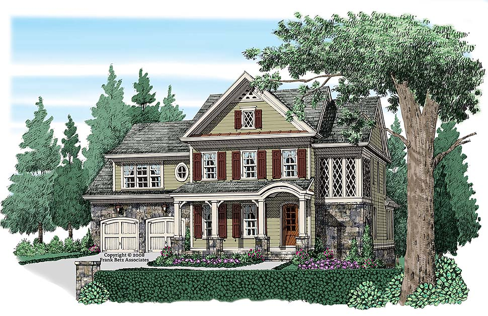 Craftsman French Country Traditional House Plan 83076 Elevation