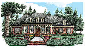 European French Country House Plan 83077 Elevation