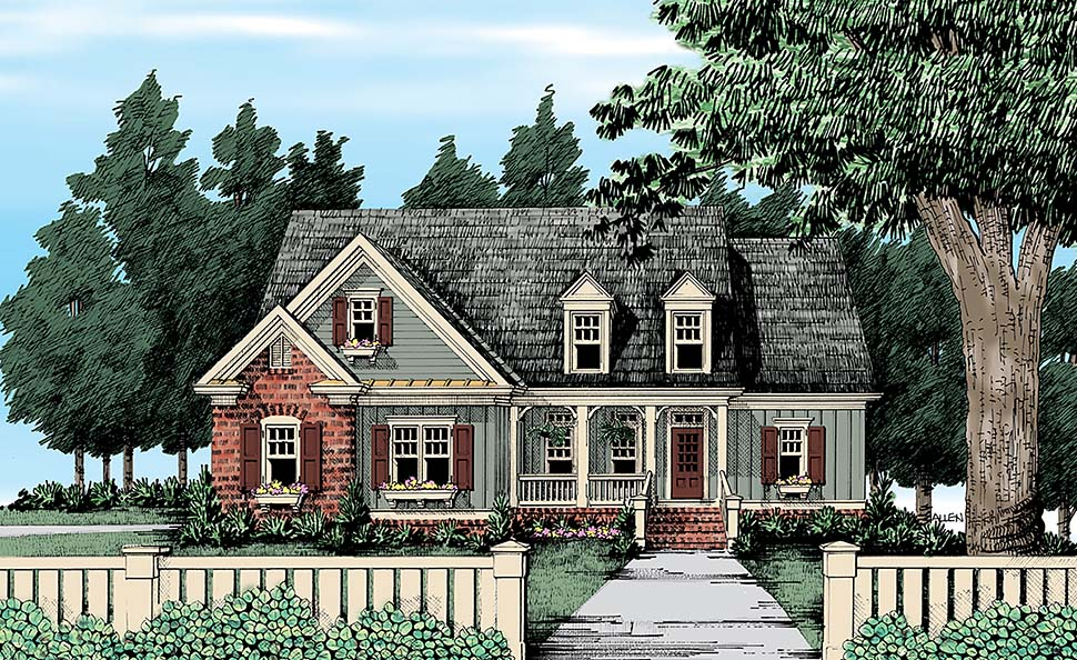 Cape Cod Country Traditional Elevation of Plan 83079