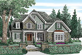 Bungalow , Craftsman , Traditional House Plan 83083 with 4 Beds, 3 Baths, 2 Car Garage Elevation