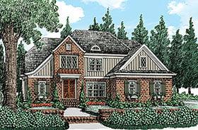European Traditional Tudor House Plan 83085 Elevation